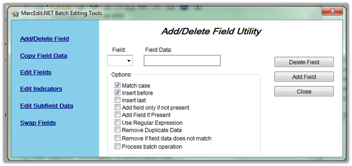 Adding and Deleting Fields - MarcEdit - LibGuides at University of
