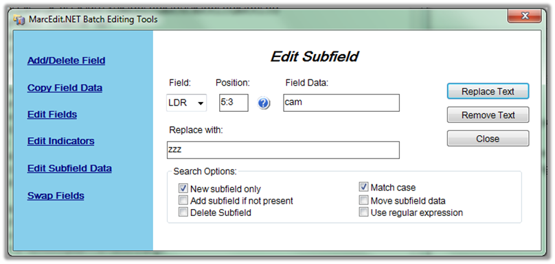 marc editor field