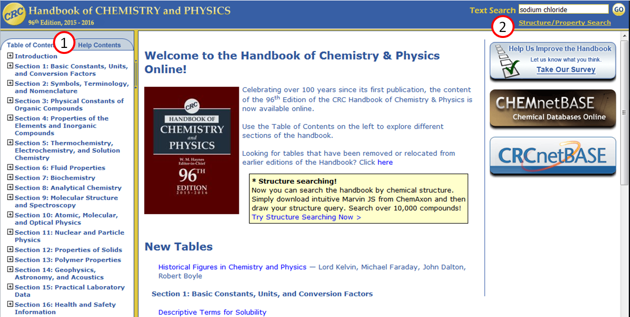 Screenshot of CRC Handbook Homepage