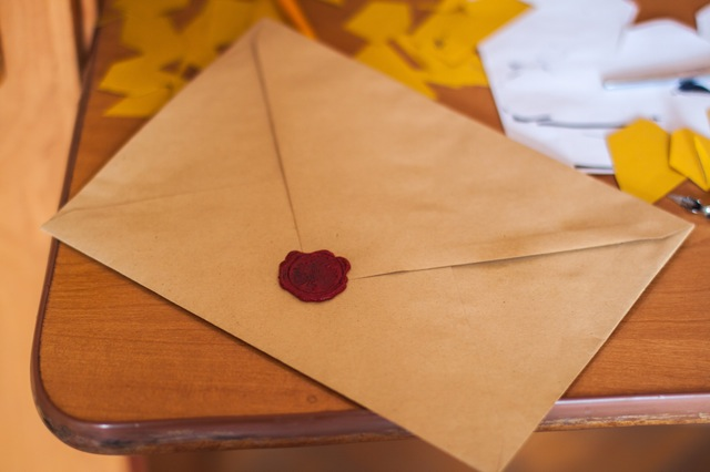 envelope with a seal