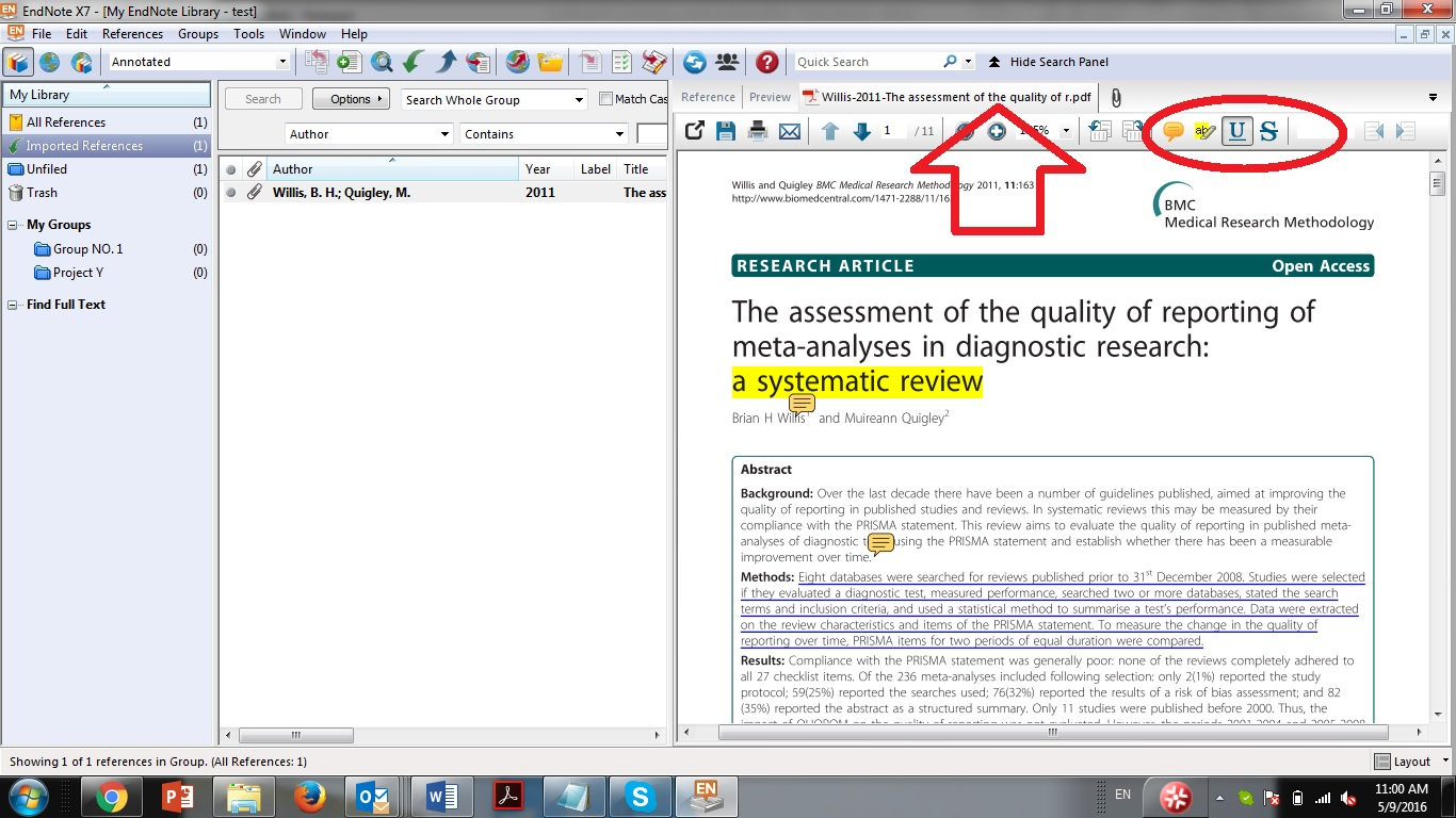 How can I highlight and annotate PDFs in EndNote? - McGill