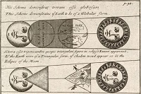 Diagrams of eclipse from Universal Geography, 1711, http://1.usa.gov/298x9EL