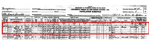 1930ex2 Order A Census Form on free blank,