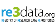 re3data.org logo.  Links to the registry of research data repositories.