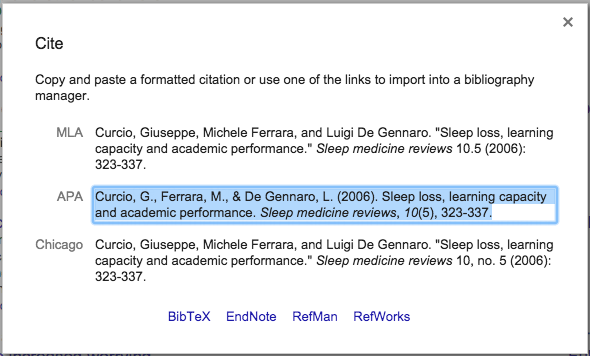 select your preferred citation style copy and paste the citation into your bibliography