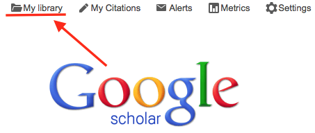 Saving citations with google scholar google scholar hoover or at the top of the google scholar homepage stopboris Image collections