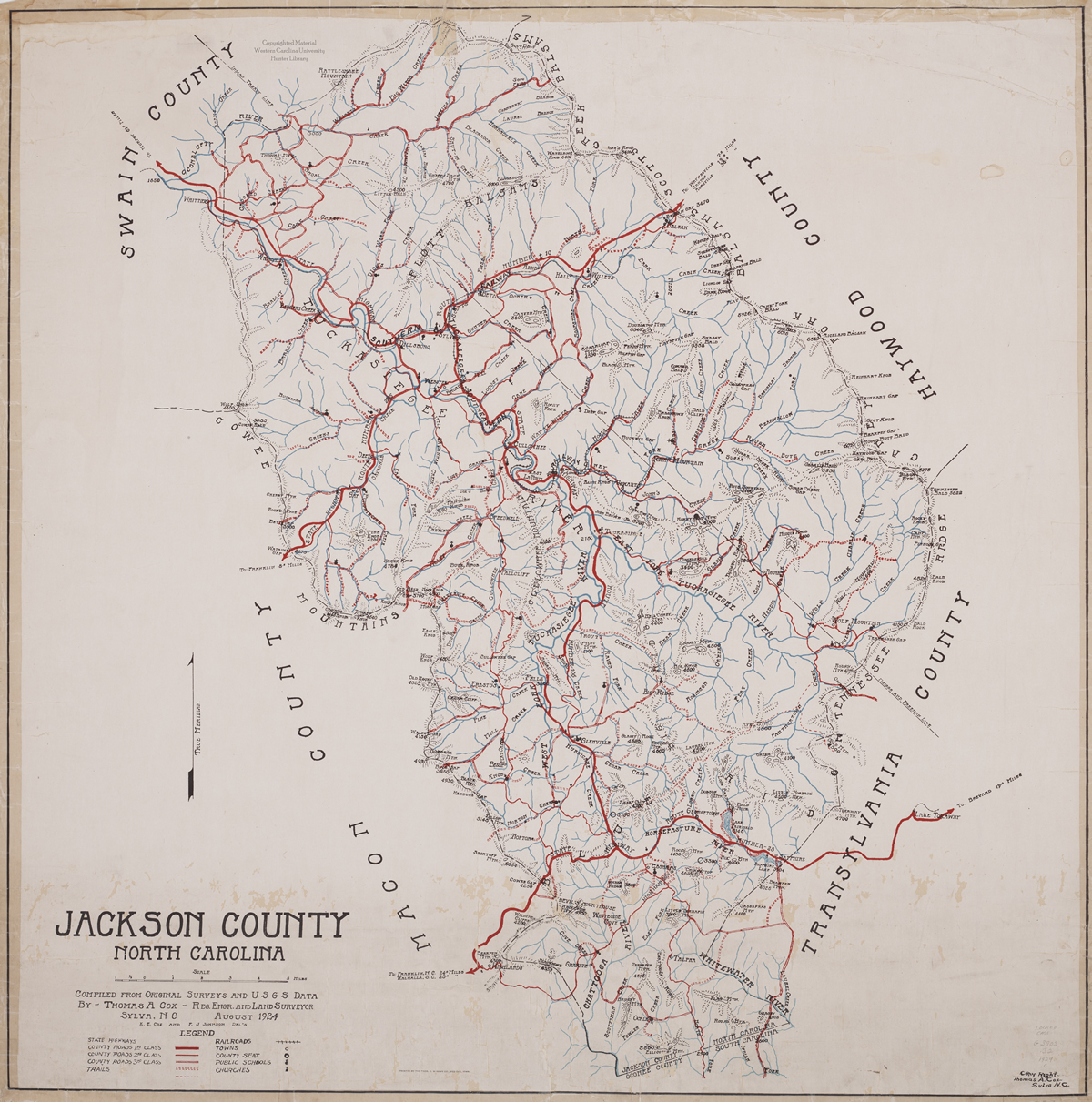 Historic Jackson County Map.