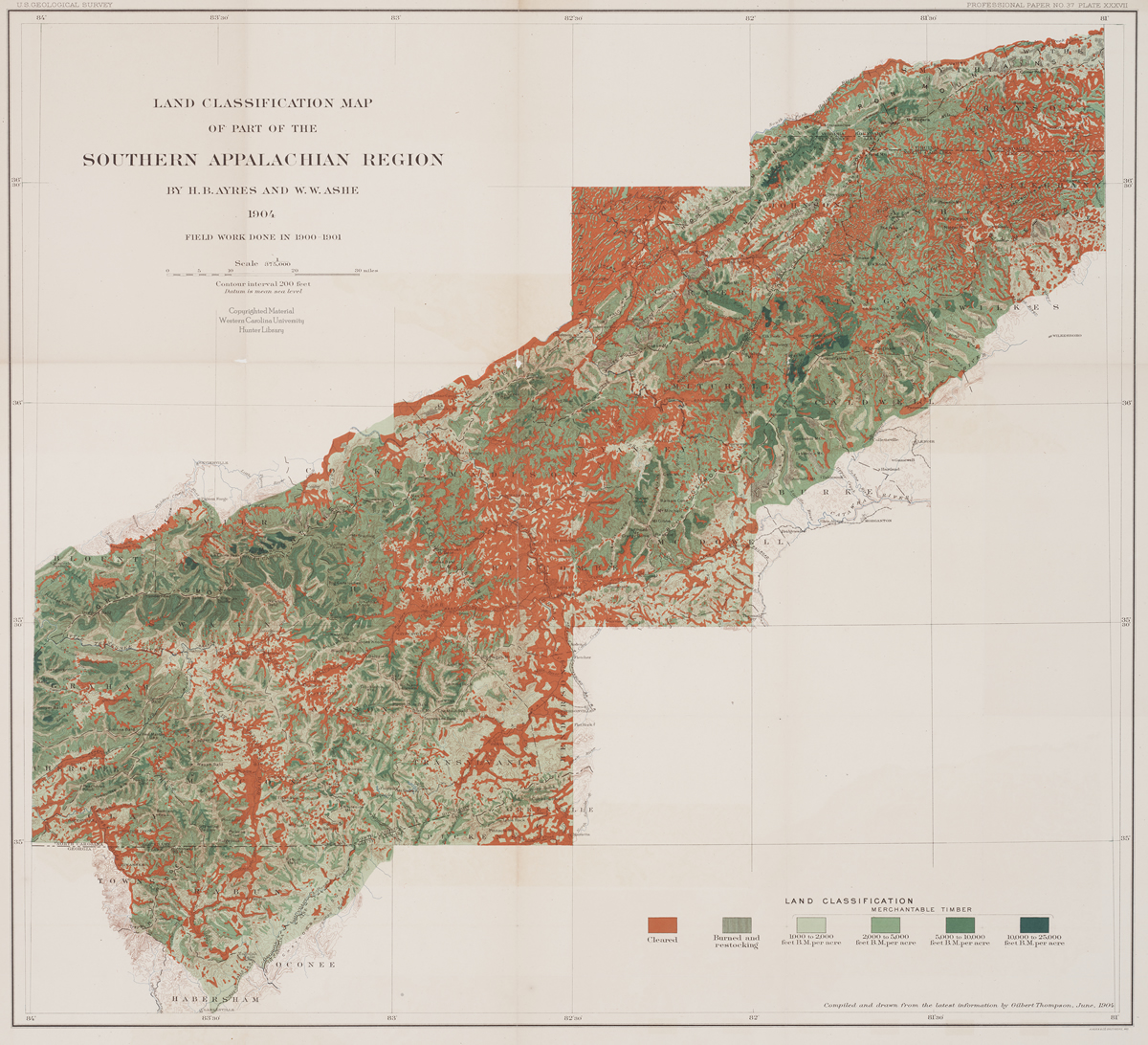 Land Classification Map of the Southern Appalachian Region.