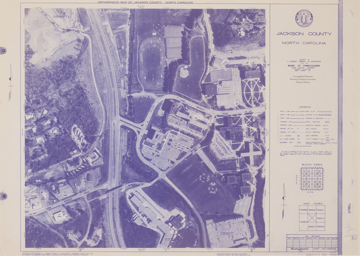 Orthophotographic Map of WCU's Campus.