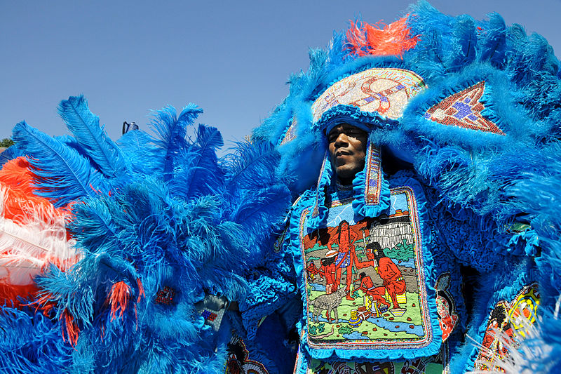Mardi Gras Indian at Jazz Fest. Tulane Public Relations.