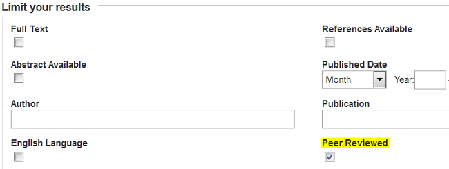 Peer Review Limit Screenshot