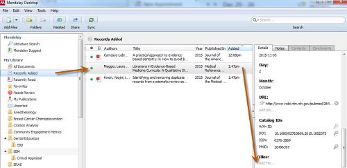 Screenshot of adding PDF files