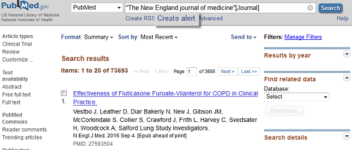 PubMed: Create alert (save search)