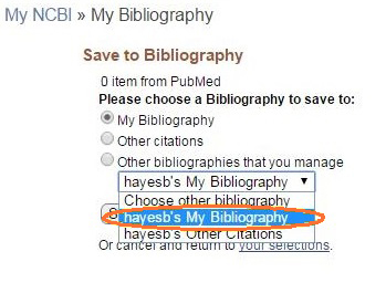 Save To Bibliography