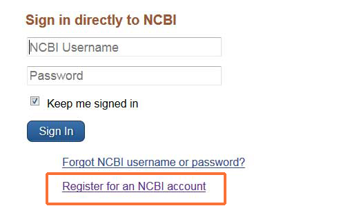 Set up my ncbi nih public access policy and you libguides at scenario 2 if you have neither a my ncbi account nor an era commons account navigate to the bottom left of the login page click the link to register for stopboris Image collections