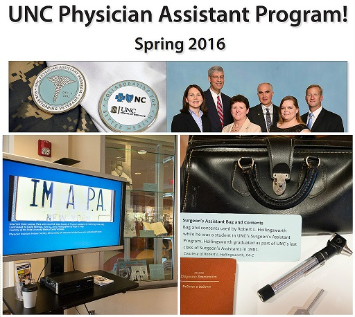 New UNC Physician Assistant Program Welcome Exhibit Poster, Spring 2016