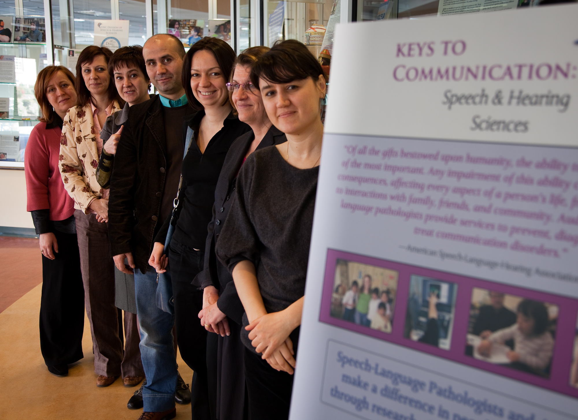 International Visitors at the Keys to Communication Exhibit Celebrating Speech and Hearing Sciences 40th Anniversary photo March through October 2010
