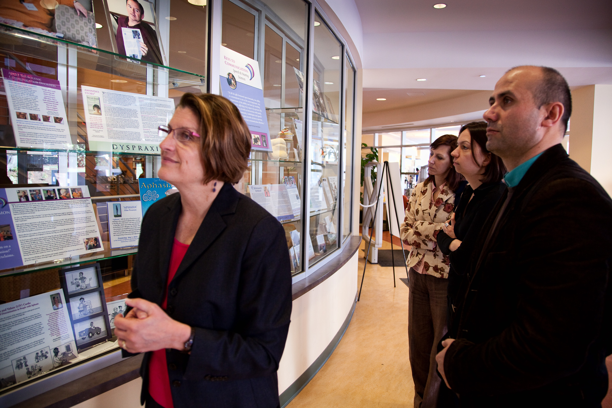 Visitors Enjoying the Keys to Communication Exhibit Celebrating Speech and Hearing Sciences 40th Anniversary March through October 2010