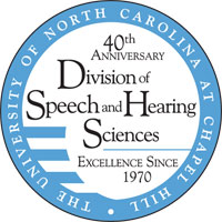 Division of Speech and Hearing Sciences 40th Anniversary Celebration Logo