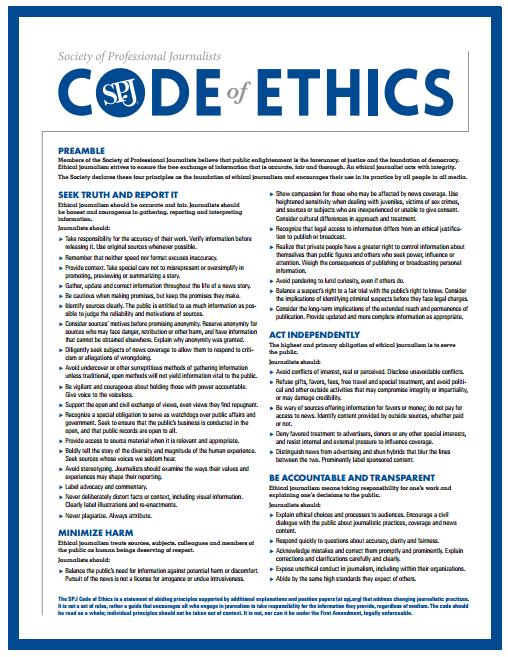 Journalism Ethics & Standards - Communication Studies - Library