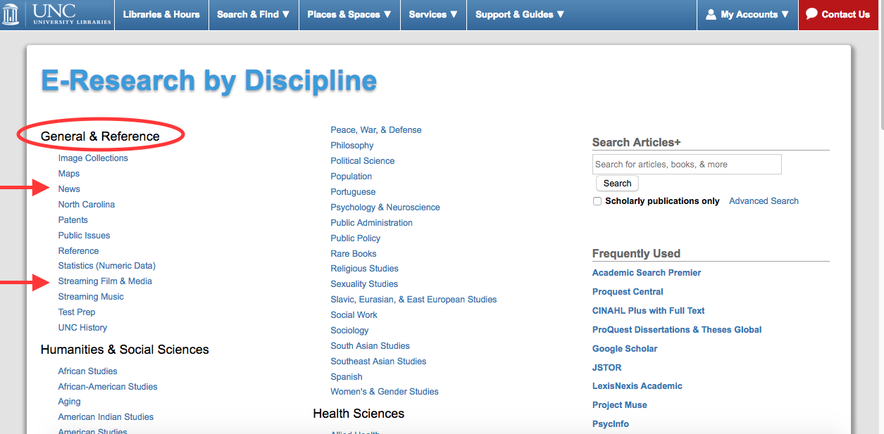 Image of the E-Research by Discipline page