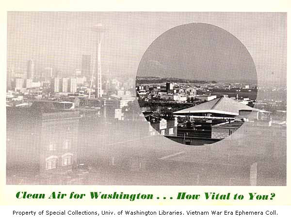 "Poster announcing ""Clean air for washington... how vital are you?"" 1968"
