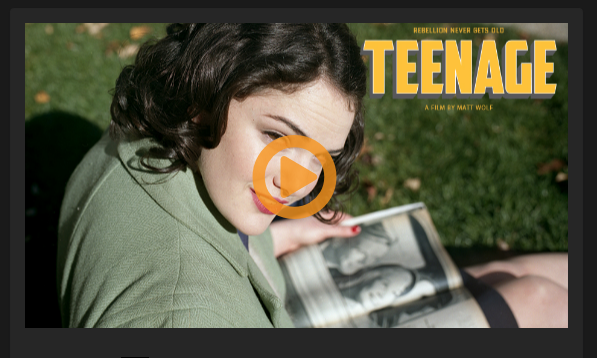 A teenage girl with a book open in her lap
