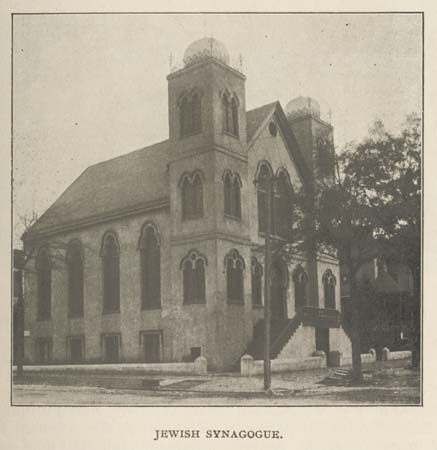 De Rosset, W. L. [1902]. Jewish Synagogue in Wilmington, NC. Wilmington Chamber of Commerce. Documenting the American South. University Library, The University of North Carolina at Chapel Hill, 2004. http://docsouth.unc.edu/nc/uptodate/ill18.html