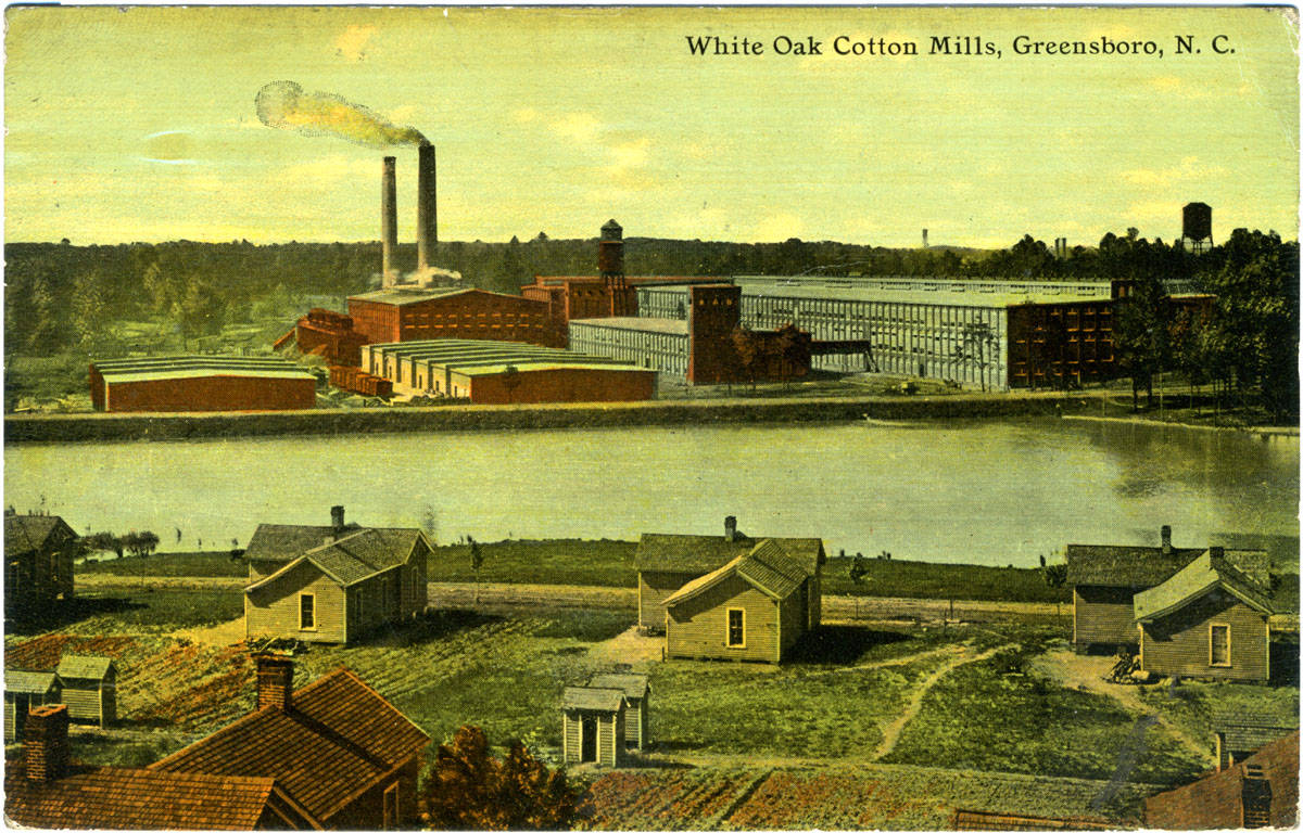 White Oak Cotton Mills postcard