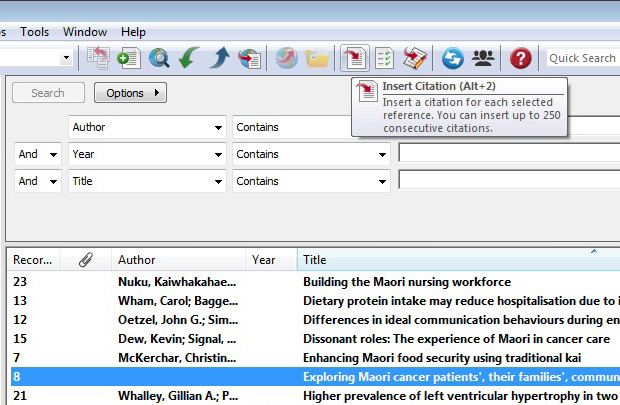 Endnote And Word Endnote For Pc Libguides At University