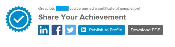 Can I get a certificate from Lynda com when I complete a course