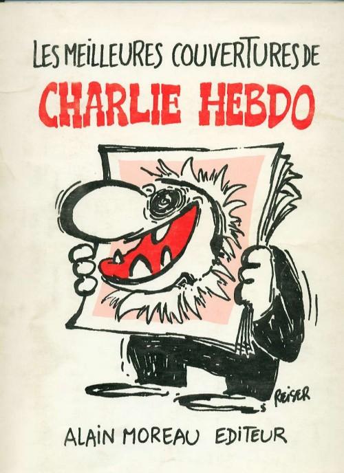 book cover for Les meilleures couvertures de Charlie Hebdo