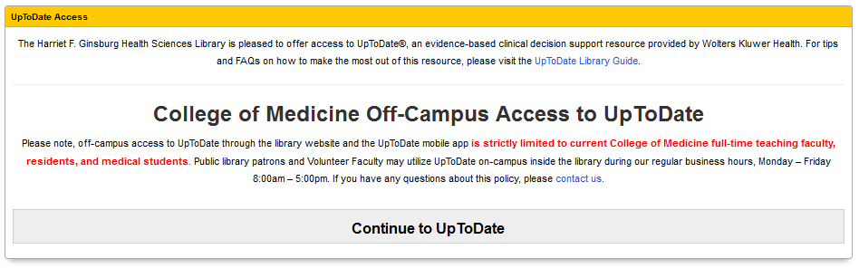UpToDate Access Box