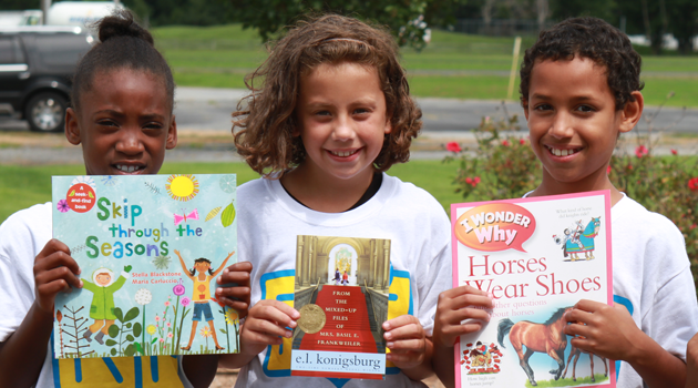 Young readers with books