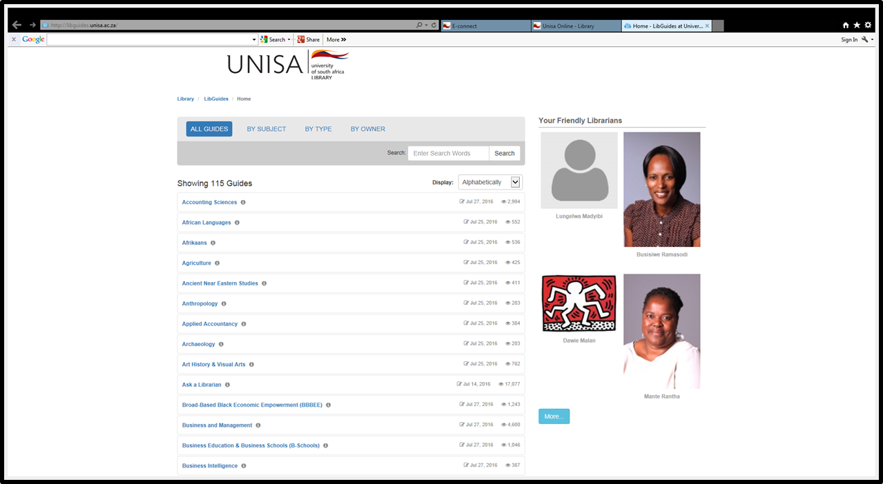 Unisa theses and dissertations online