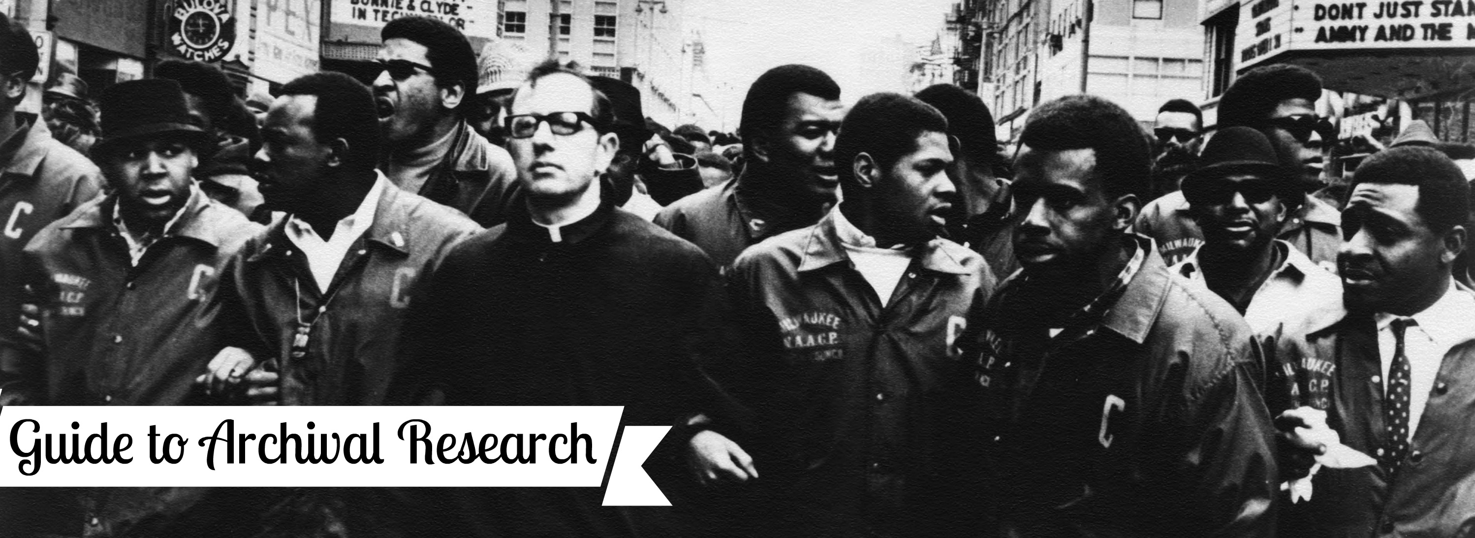 Researching Civil Rights In The Archives Department
