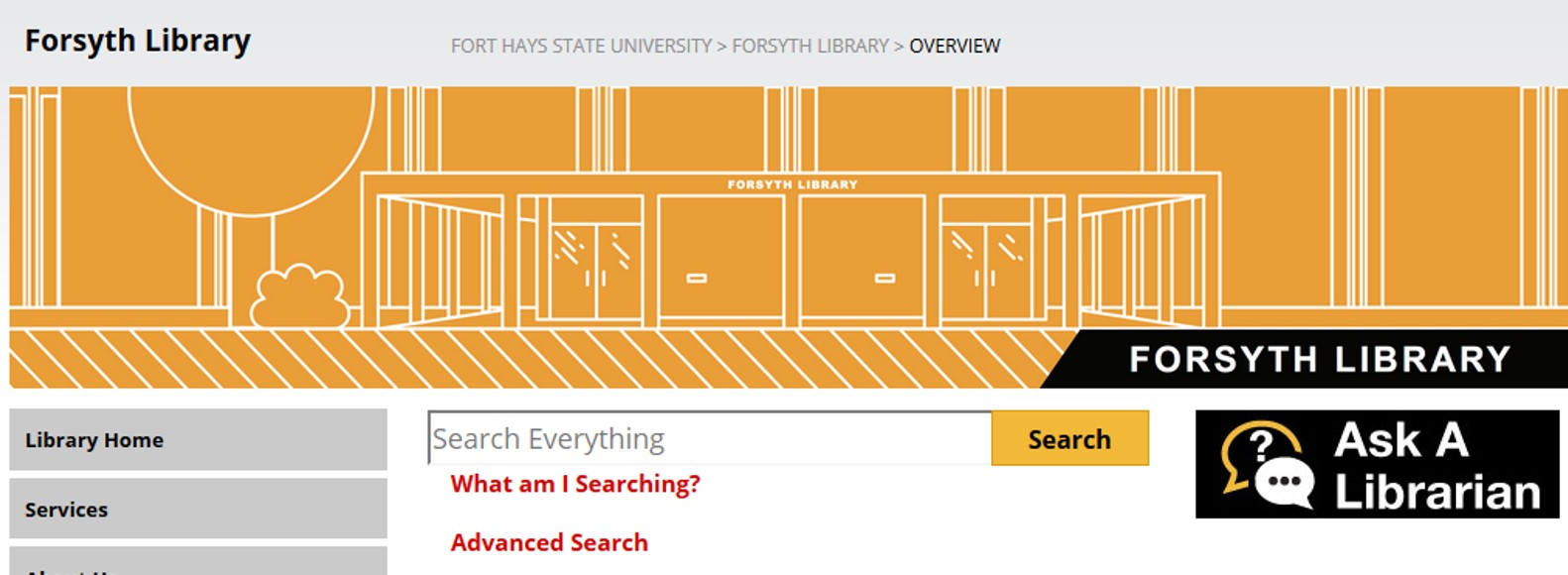 Forsyth Library search page