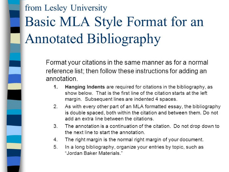 annotated bibliographies engl senior seminar school  annotated bibliography example