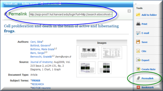 EBSCOhost Example