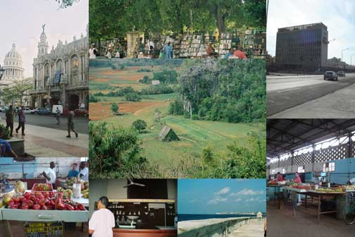 Collage: Images from Cuba