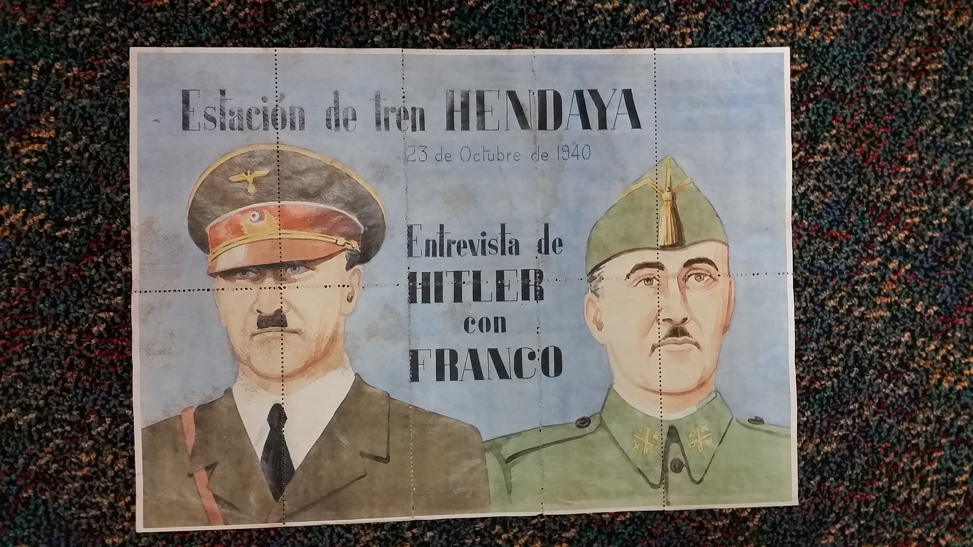 Ration coupons from Spain showing Hitler and Franco