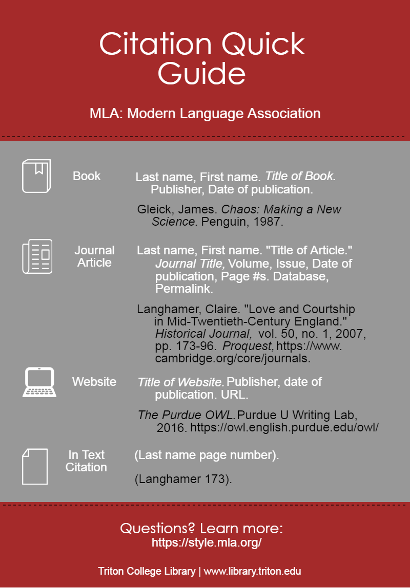Mla Modern Language Association 8th Edition Citation