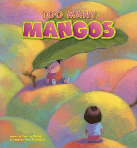 "Cover of the book ""Too Many Mangos"""