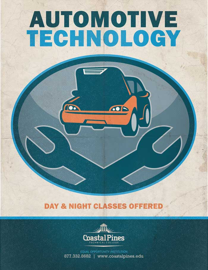 Poster for CPTC Automotive Technology program