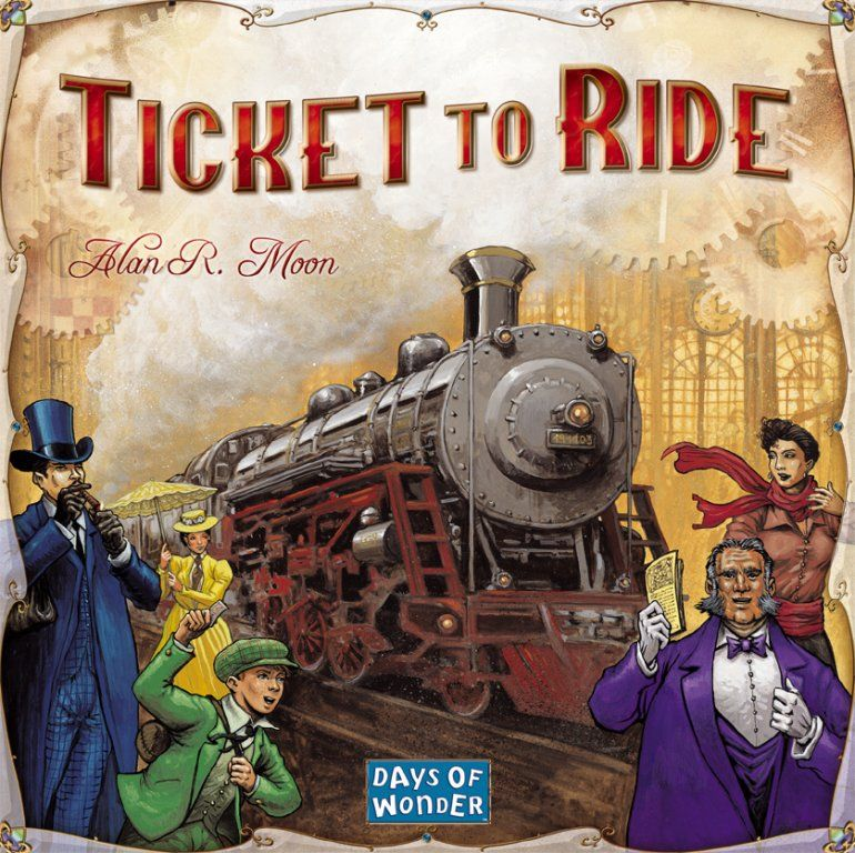 Image board game box for Ticket to Ride