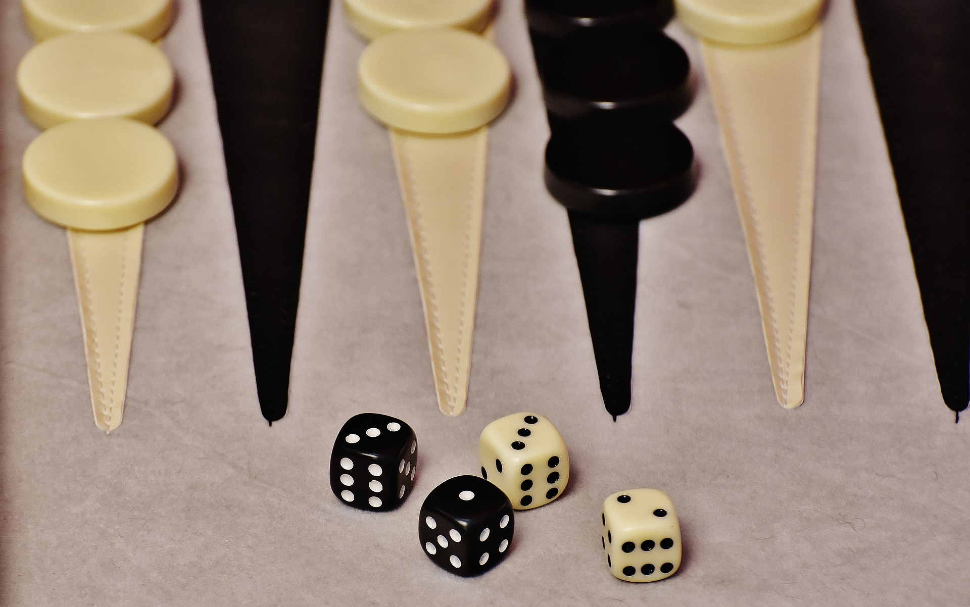Image photo of a Backgammon board game