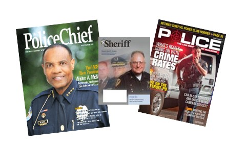 Image collage of law enforcement periodicals