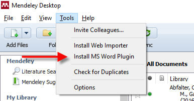 Installing Mendeley and Plugins - Mendeley Citation Manager