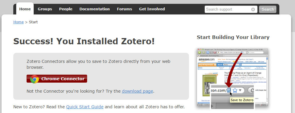 zotero pour google chrome