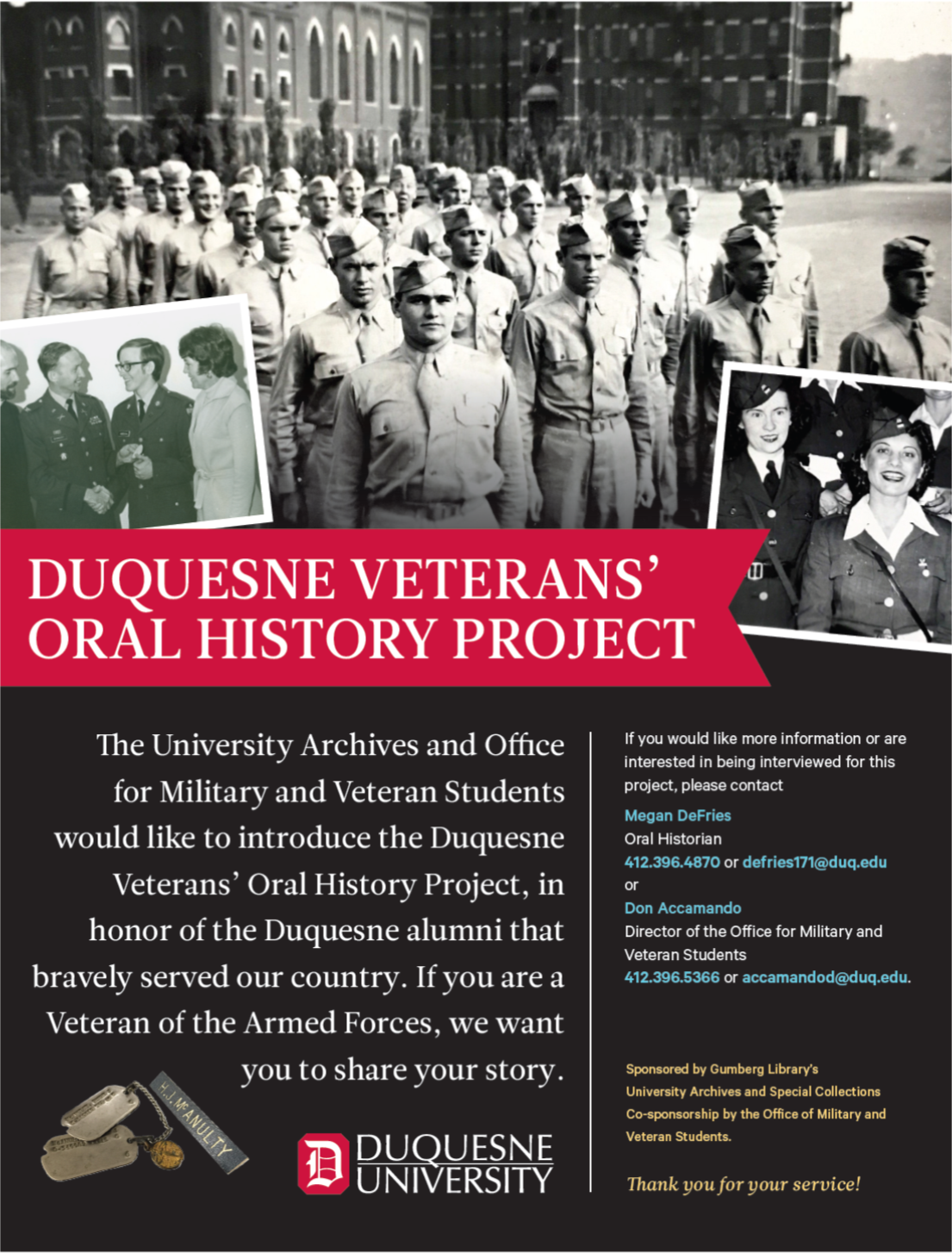 Duquesne Veterans' Oral History Project